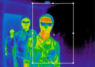 赤外線サーモグラフィーの映像